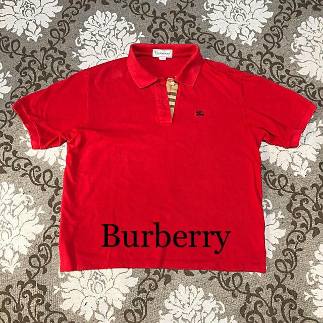 BURBERRY(バーバリー)のBURBERRY ポロシャツ 赤  レディースのトップス(ポロシャツ)の商品写真