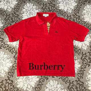 BURBERRY - BURBERRY ポロシャツ 赤