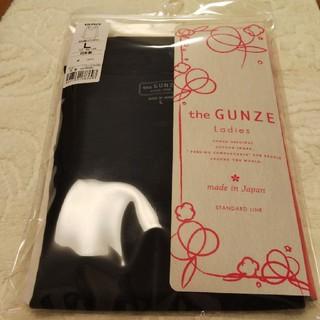グンゼ(GUNZE)のGUNZE八分袖インナー  Lサイズ  スミクロ(アンダーシャツ/防寒インナー)