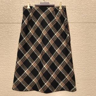 アイシービー(ICB)のiCB スカート 黒 ブラウン 白 11(ひざ丈スカート)