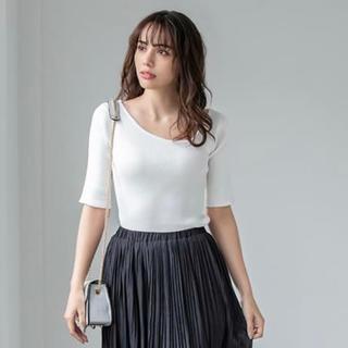 フィフス(fifth)のfifth アシメネック りぶ編みニット(Tシャツ(長袖/七分))