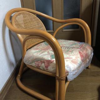 籐製 座椅子(花柄)(座椅子)