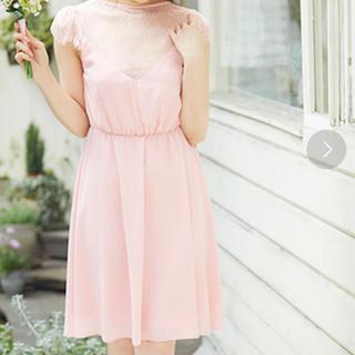 美品 お呼ばれドレス ワンピース(ミディアムドレス)