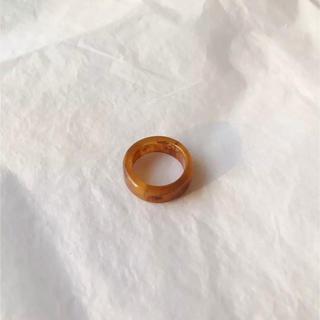 トゥデイフル(TODAYFUL)のマーブル柄リング ブラウン 指輪 新品(リング(指輪))