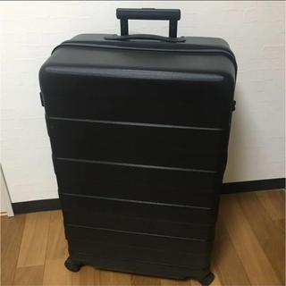 ムジルシリョウヒン(MUJI (無印良品))の☆期間限定値下げ☆ 無印良品 ハードキャリー ブラック 87L スーツケース(スーツケース/キャリーバッグ)