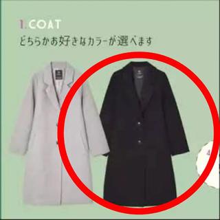 ダブルクローゼット(w closet)の【新品未使用】wcloset チェスターコート 黒(チェスターコート)