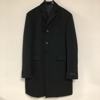 プラダ(PRADA)のprada 2011aw コート 46 黒(チェスターコート)