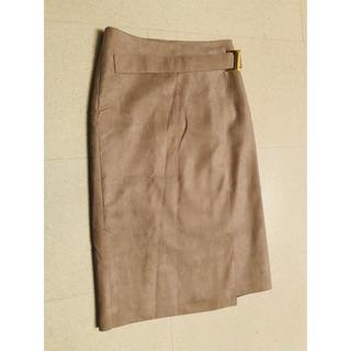 ルーニィ(LOUNIE)の新品未使用 LOUNIE スエード巻きスカート(ひざ丈スカート)