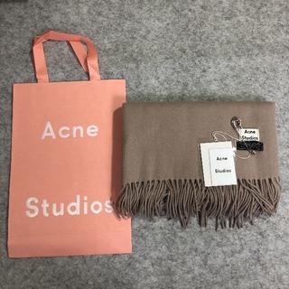 アクネ(ACNE)のAcne Studiosプレゼントマフラーメランジキャメル男女兼用 正規品(財布)