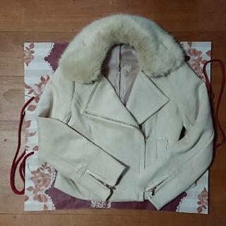 axes femme - axesfemmeファー付きジャケット