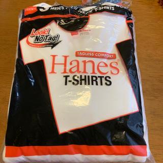 ヘインズ(Hanes)のHanes T-SHIRTS赤ラベル XL 3枚組 丸首 未使用品(Tシャツ/カットソー(半袖/袖なし))