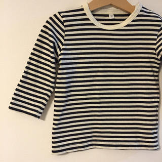 ムジルシリョウヒン(MUJI (無印良品))の毎日のこども服 長袖ボーダーsize90(Tシャツ/カットソー)