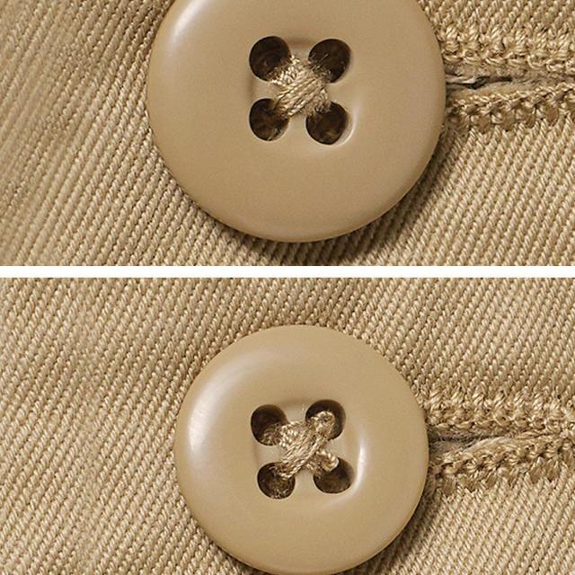 GU(ジーユー)の新品テーパードチノパンツ ベージュ レディースのパンツ(チノパン)の商品写真