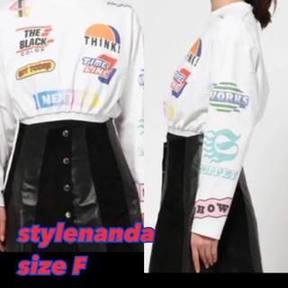 スタイルナンダ(STYLENANDA)の新品⑧④stylenanda ショートスウェットトレーナー sizeF(トレーナー/スウェット)