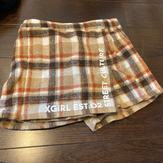 エックスガールステージス(X-girl Stages)のチェックキュロット 100センチ(スカート)