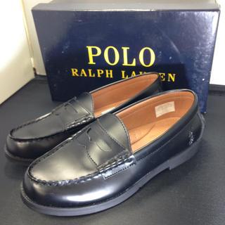 ポロラルフローレン(POLO RALPH LAUREN)のポロ ラルフローレン ローファー 新品未使用 US4.5(ローファー/革靴)