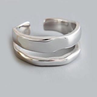 シルバーリング 2層 silver925 新品 未使用(リング(指輪))