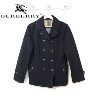 BURBERRY - burberry バーバリー キルティング ピーコート レディース ブラック 黒