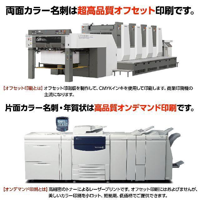 セミオーダー!プロのデザイナーが作る商業印刷の高品質名刺両面100枚/Y0023 ハンドメイドのハンドメイド その他(その他)の商品写真