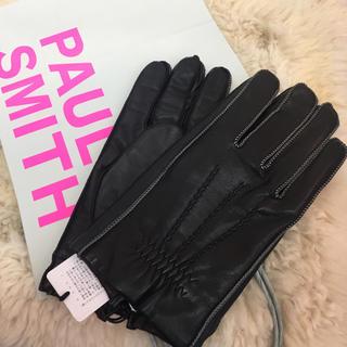 ポールスミス(Paul Smith)の☆新品☆ポールスミス 革手袋 レザーグローブ 黒 羊革(手袋)