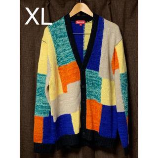 シュプリーム(Supreme)の希少XL supreme patchwork mohair cardigan(カーディガン)