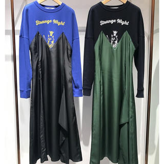 ファーファー(fur fur)の美品♡異素材コンビワンピース(ロングワンピース/マキシワンピース)