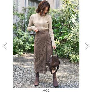 フレイアイディー(FRAY I.D)の今期 美品 フロッキーレースタイトスカート(ロングスカート)