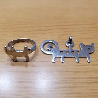 ツモリチサト(TSUMORI CHISATO)の猫 指輪 ネックレストップ(リング(指輪))