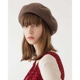 ジルスチュアート(JILLSTUART)のジルスチュアート ベレー帽♡ミディアムブラウン(ハンチング/ベレー帽)