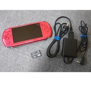 PlayStation Portable - 【メモカ/DLソフト付】PSP-3000 レッド