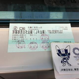 ジェイアール(JR)の青春18きっぷ 1回/人 (返却不要)(鉄道乗車券)