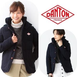ダントン(DANTON)のDANTON × BEAMS別注フード付 ウールモッサ 34  ネイビー (ダウンコート)