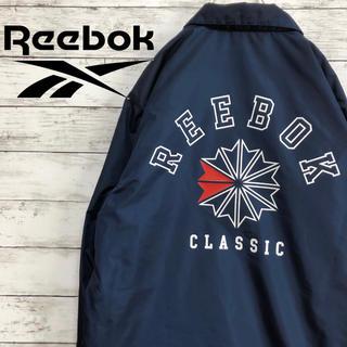 Reebok - 【でかロゴ】古着 リーボック ビッグロゴ ナイロン コーチジャケット L