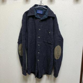ペンドルトン(PENDLETON)の80s USA製 Pendleton ペンドルトン 肘パッド ウールシャツ M(シャツ)