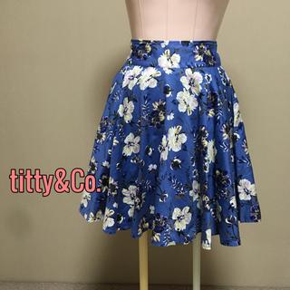 ティティアンドコー(titty&co)のtitty&Co♡花柄フレアスカート  Aライン(ひざ丈スカート)