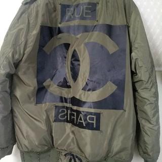 ピースマイナスワン(PEACEMINUSONE)のma-1ジャケットG-Dragon 着用シャネルマークジャケット(ブルゾン)