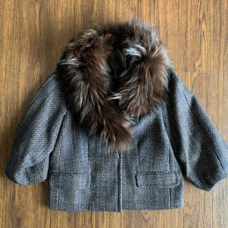DEUXIEME CLASSE - ツイード ショートジャケット 毛皮付き