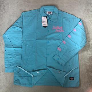 ディッキーズ(Dickies)のDickies メンズ アウター・長袖 ライトブルー(Tシャツ/カットソー(七分/長袖))