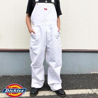 ディッキーズ(Dickies)のdickies オーバーオール サロペット  ホワイト 白(サロペット/オーバーオール)