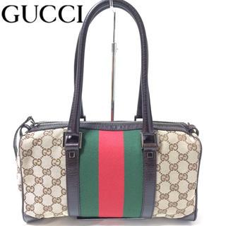 Gucci - GUCCI グッチ シェリーライン ミニボストンバッグ