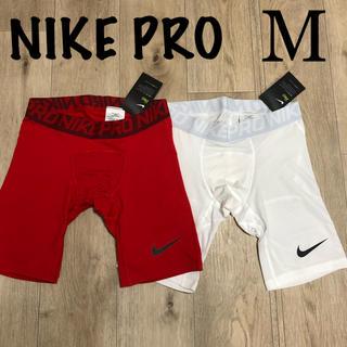 ナイキ(NIKE)のM ナイキ スポーツインナー ショートスパッツ 赤 白 ナイキボクサーパンツ(ボクサーパンツ)