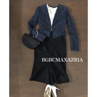 ビーシービージーマックスアズリア(BCBGMAXAZRIA)のBGBCMAXAZRIA ノーカラージャケット フォーマル 結婚式 二次会(ノーカラージャケット)