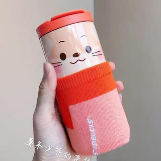スターバックスコーヒー(Starbucks Coffee)のボトルスリーブ付!2020 鼠 子年 台湾スターバックス 干支 ステンレスボトル(キャラクターグッズ)