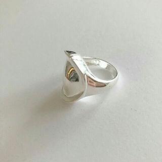 トゥデイフル(TODAYFUL)のimport silver 925 big plate ring #254(リング(指輪))