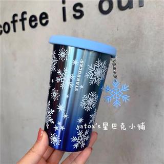 スターバックスコーヒー(Starbucks Coffee)のストラップ付!ステンレスタンブラー 雪の結晶 台湾スターバックス マグカップ(ストラップ)