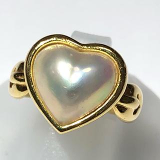 タサキ(TASAKI)のタサキ 田崎 TASAKI リング マベパール 真珠 k18 イエローゴールド(リング(指輪))