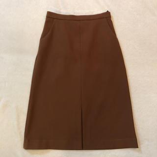 トゥモローランド(TOMORROWLAND)のBEAMS スカート ブラウン(ひざ丈スカート)