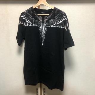 マルセロブロン(MARCELO BURLON)の美品!MARCELO BURLON フェザーTシャツ M(Tシャツ/カットソー(半袖/袖なし))