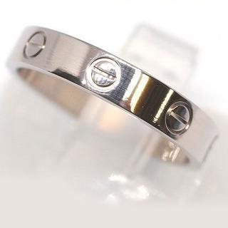 カルティエ(Cartier)の美品 カルティエ ラブリング k18WG 17号 ♯57 4.8g(リング(指輪))