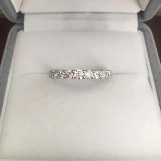 ダイヤモンド ハーフエタニティ リング 1.00ct Pt900 3.3g(リング(指輪))